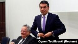 Архивска фотографија - Прес-конференција на министрите за надворешни работи на Грција и на Македонија, Никос Коѕијас и Никола Димитров во Скопје - 23Mar2018