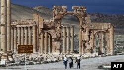 سایت باستانی پالمیرا، پیش از حملات سال گذشته داعش برای تخریب این مکان