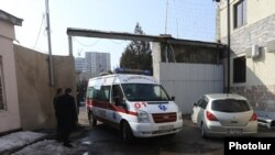 Armenia - Artur Sargsian, an opposition supporter, leaves a prison hospital in Yerevan in an ambulance, 6Mar2017.
