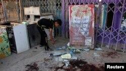 На місці одного з вибухів, що сталися в Багдаді 31 липня 2013 року