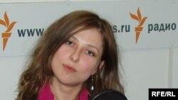 """Юлия Юзик, автор книги """"Невесты Аллаха"""", в студии Радио Свобода"""
