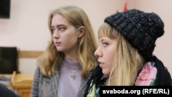 Тацяна Мурашка і Марыя Косьцій. 15 лістапада 2017 году