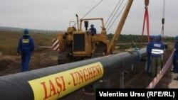 La inaugurarea gazoductului Iași-Ungheni