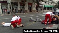 Симулација на сообраќајна несреќа - Црвен Крст Скопје