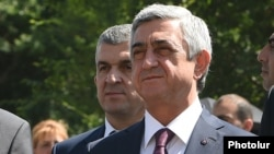 Former Armenian President Serzh Sarkisian (file photo)