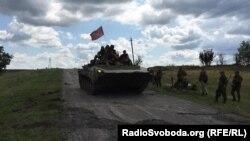 Сепаратисти біля місця катастрофи пасажирського літака, Грабове, Донеччина, 16 липня 2015 року