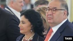 Алишер Усмонов рафиқаси Ирина Винер билан