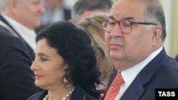 Алишер Усмонов Ирина Винер билан.