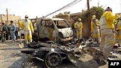 Бағдадта болған жарылыстардың бірі. Ирак, 5 наурыз 2014 жыл. (Көрнекі сурет)