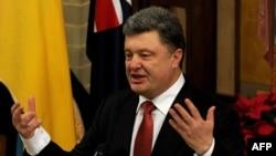 Украина президенті Петр Порошенко. Мельбурн, 11 желтоқсан 2014 жыл.