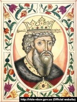 Володимир Святославич – Великий князь Київський (979–1015), правитель України-Русі. Зображення 17-го століття