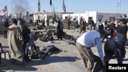 آثار تفجير ضد زوار في الناصرية