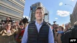 Российский оппозиционный активист Алексей Навальный. Москва, 14 мая 2017 года.