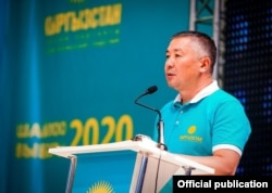 The leader of the Kyrgyzstan political party, Kanat Isaev