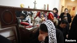 مسیحیان عزادار در مصر