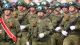 Российские военные на параде в Тирасполе, 9 мая 2018