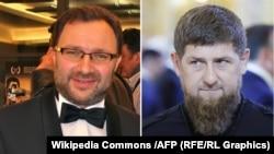 Комбинированное фото: чеченский кинорежиссер Инал Шерипов (слева) и глава Чечни Рамзан Кадыров.