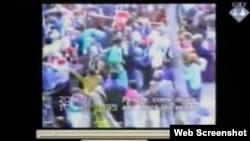 Izbjeglice u Potočarima - snimak prikazan tijekom suđenja Ratku Mladiću, 23. travanj 2013.