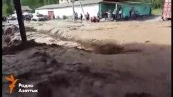 В Кадамжае сошли селевые паводки