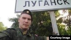 Российский военнослужащий в Донбассе.