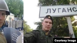 Российский военнослужащий в Донбассе
