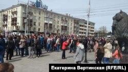 """Несанкционированное шествие в Иркутске """"Он нам не царь"""""""