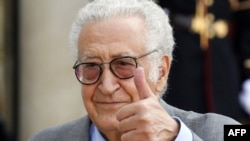 The new international peace envoy to Syria, Lakhdar Brahimi