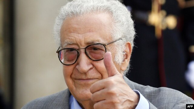United Nations peace envoy to Syria Lakhdar Brahimi