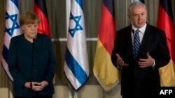 بنیامین نتانیاهو و آنگلا مرکل- اورشلیم٬ پنجم اسفندماه ۱۳۹۲