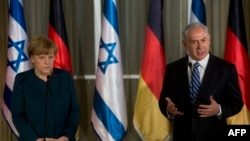German Chancellor Angela Merkel and Israeli Prime Minister Benjamin Netanyahu in Jerusalem, February 24, 2014.