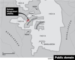 Карта анклавов внутри анклавов на границе Индии и Бангладеш