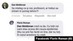 Florin Roman, șomaj tehnic pentru profesori