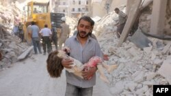 Алепа, пасьля аднаго з авіяўдараў
