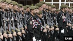 Нохчийчоь -- Кадыров Ахьмадан цIарх полк, гIаттамхошца къийсам латточу ницкъийн дакъа Соьлж-ГIала, 25Тов2014