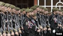 Спецподразделение полиции Чечни в Грозном.