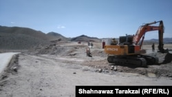 Construction on the China-Pakistan Economic Corridor road in Balochistan.