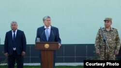 Президент Атамбаев Боткенда. 2017, 13 октябрь