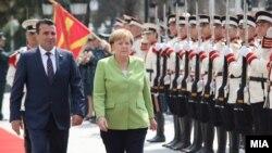 Премиерот Заев и германската канцеларка Меркел, архивска фотографија