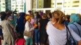 Nur-Soltandaky protestler. 3-nji iýun, 2019 ý.