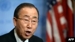 Генеральный секретарь ООН Пан Ги Мун (Нью-Йорк, 6 января 2016 года)
