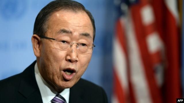 Пан Ґі Мун виступає з заявою перед початком засідання Ради безпеки ООН, Нью-Йорк, 6 січня 2016 року