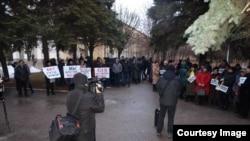 Митинги в Краматорске: за импичмент и в поддержку Порошенко,1 марта 2019 года
