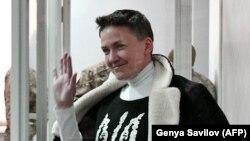 Надія Савченко у Шевченківському райсуді Києва, який 23 березня ухвалив рішення про її арешт