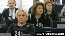 Premierul român Viorica Dăncilă în Parlamentul European