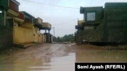 احد شوارع بعقوبة بعد الامطار الاخيرة