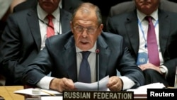 Russian Foreign Minister Sergei Lavrov spoke to the UN General Assembly on September 27. (file photo)