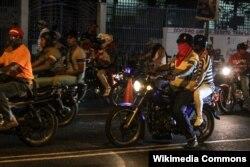 Члены одной из банд-colectivo в Каракасе