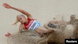 Дарья Клишина, член российской сборной по легкой атлетике.