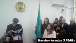 На оглашении приговора по «делу Храпуновых». Алматы, 8 октября 2018 года.