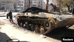 Scene iz Homsa, 20. februar 2012.